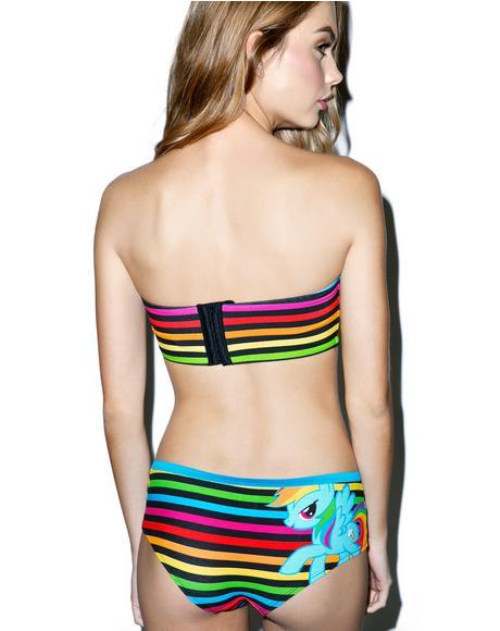 Rainbow Dash Bandeau N Panty Set