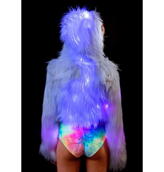 J Valentine Candy Flashing Lights Cropped Jacket