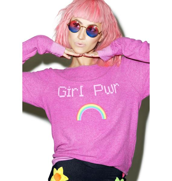 Wildfox Couture Girl Power Baggy Beach Jumper