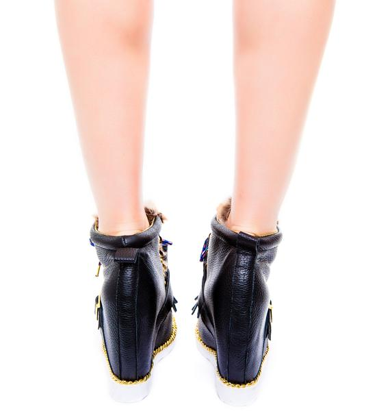Irregular Choice Big Step Mama Wedge Boot