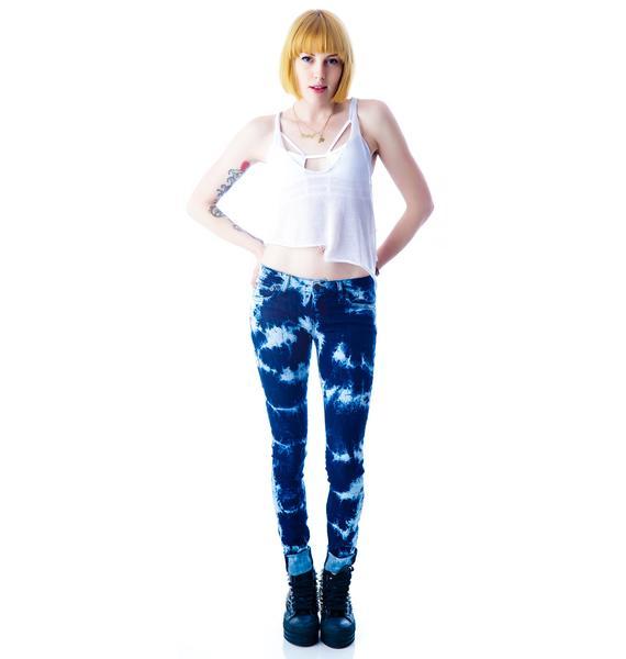 Kill City Bleachy Tie Dye Junkie Jeans