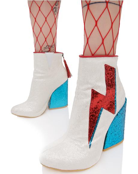 Ziggy Dust Sparkle Lightning Boots