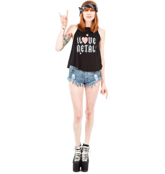 Wildfox Couture I Love Metal Cassidy Tank