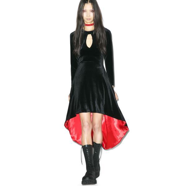 Warlock Velvet Dress