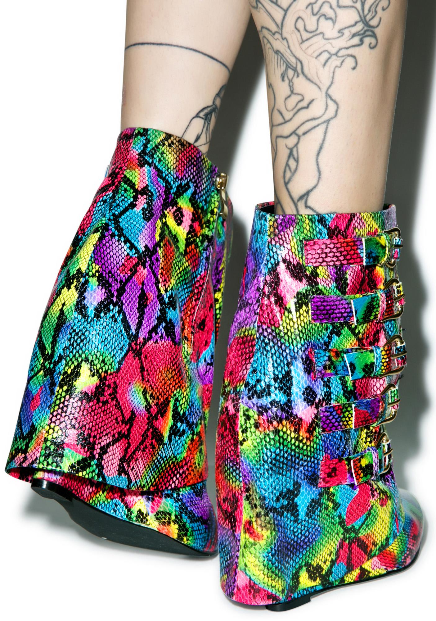 Rainbow Renegade Ankle Boots