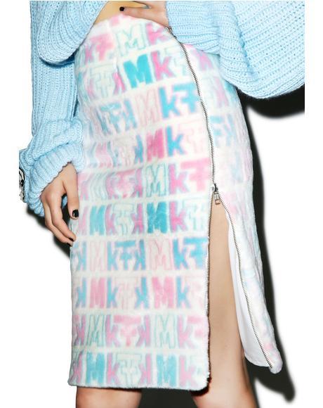 Pastel Fuzziness Logo Skirt