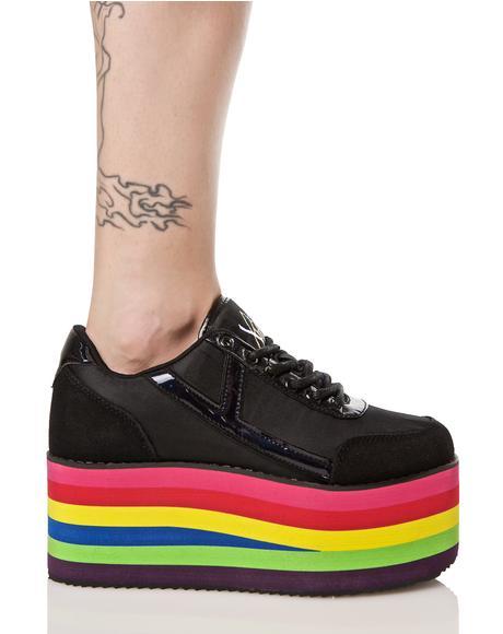 Karazii Rainbow Platform Sneaker