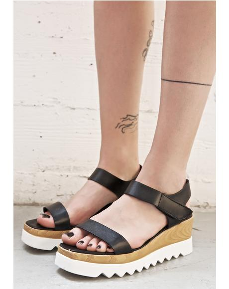 Pebble Beach Platform Sandals