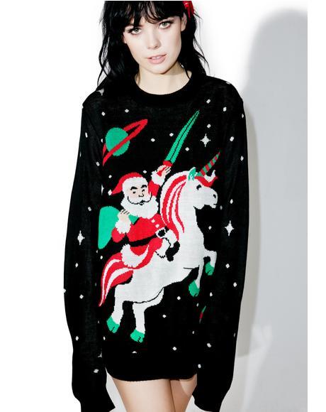Santa Unicorn Sweater