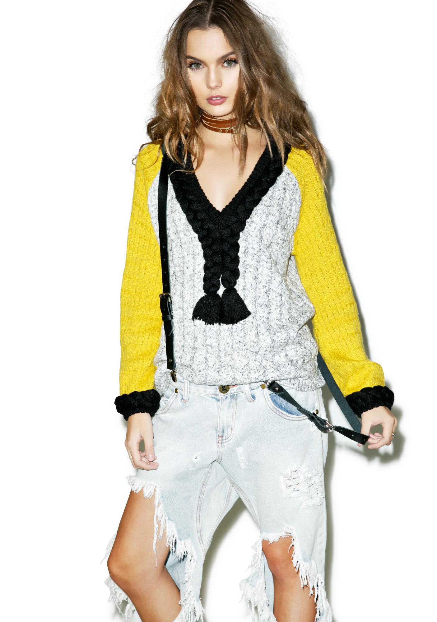 For Love & Lemons Billy Pullover Sweater