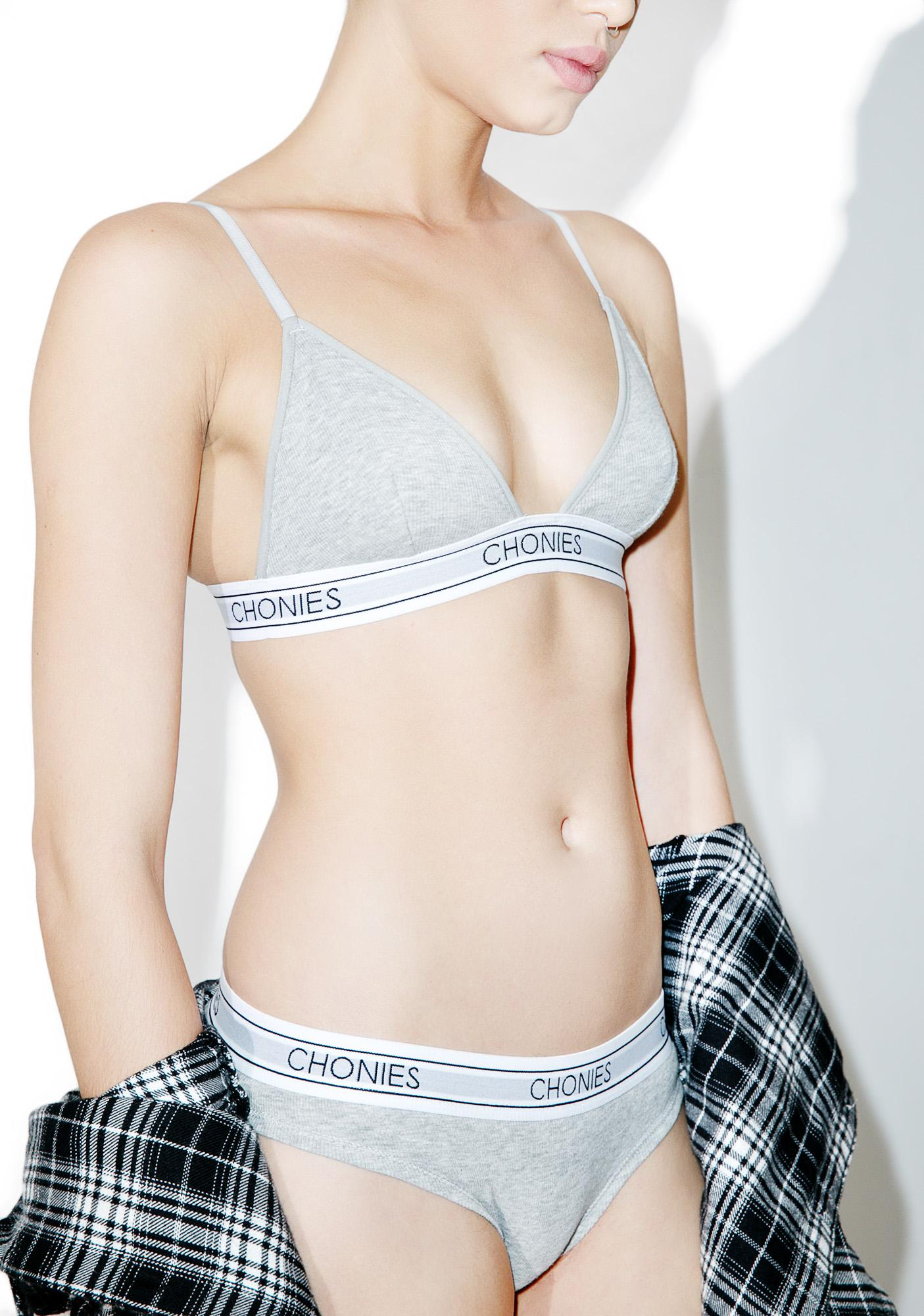 Chonies Ribbed Triangle Bra