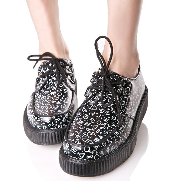 T.U.K. Astrological Leather Viva Creepers