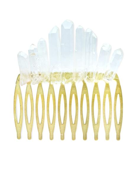 Quartz Crystal Hair Comb