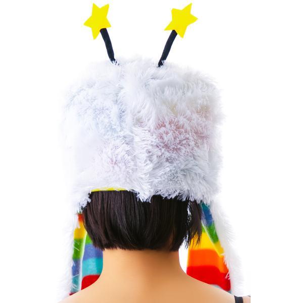 Rainbow Sprite Furry Hat