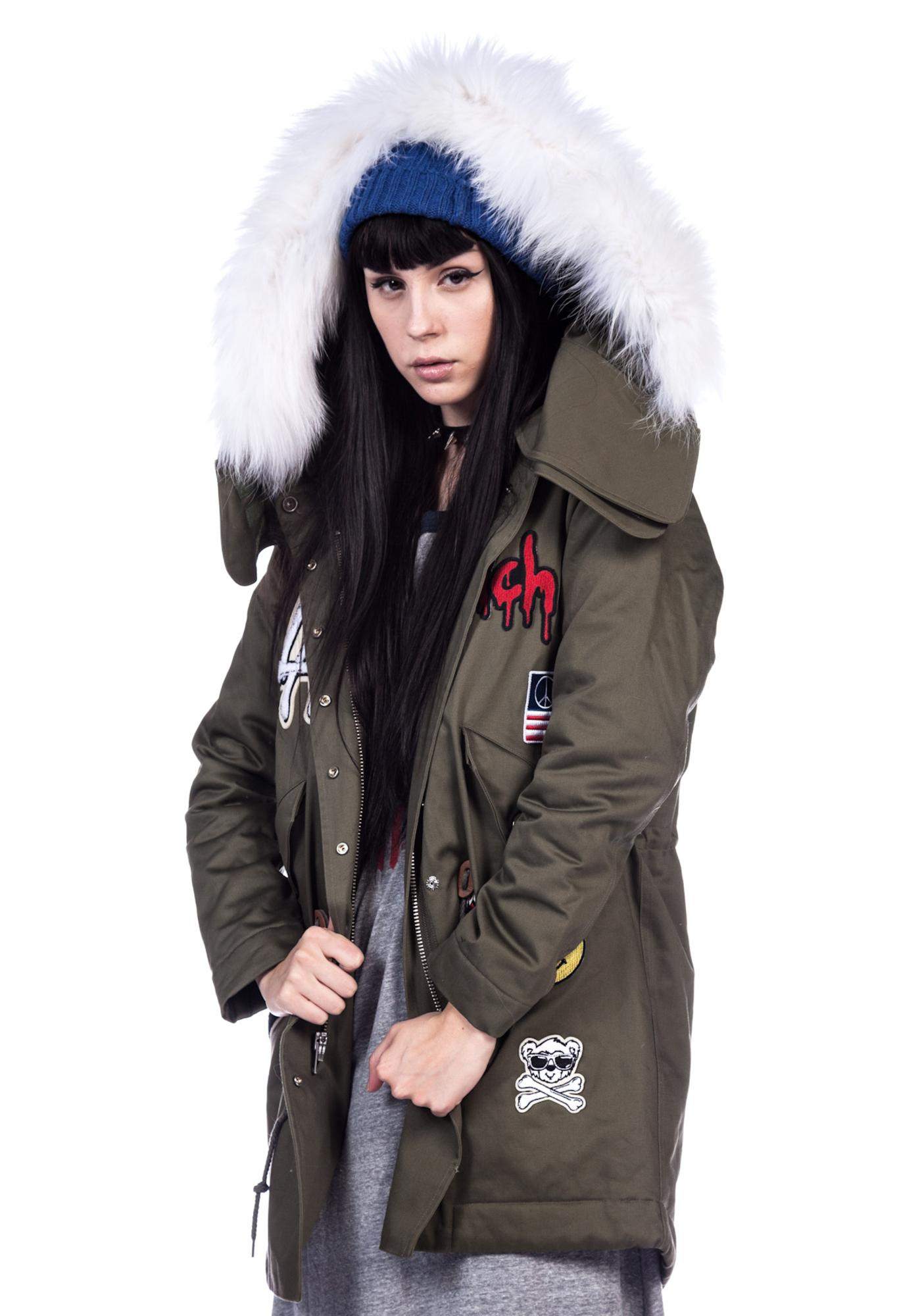 Joyrich Outdoor Patch Hooded Jacket