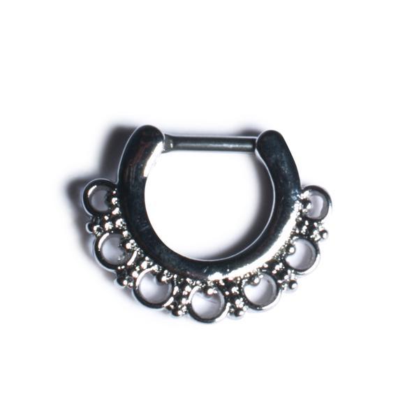 Brass Knuckles Septum Ring