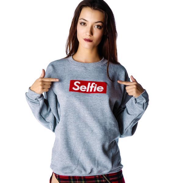 Petals and Peacocks Selfie Sweatshirt