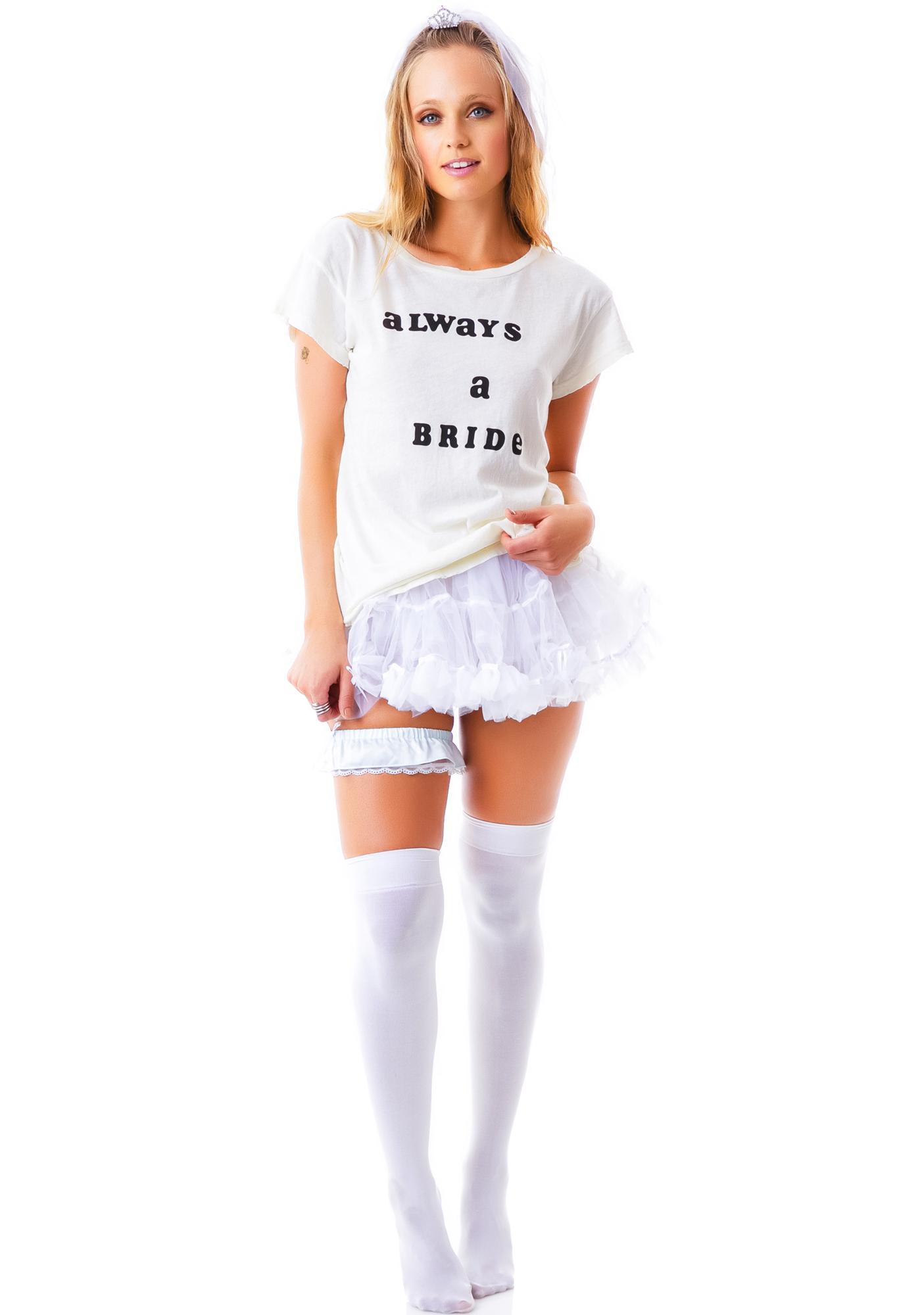 Wildfox Couture Never A Bridesmaid Cotton Jersey Hippie Crew