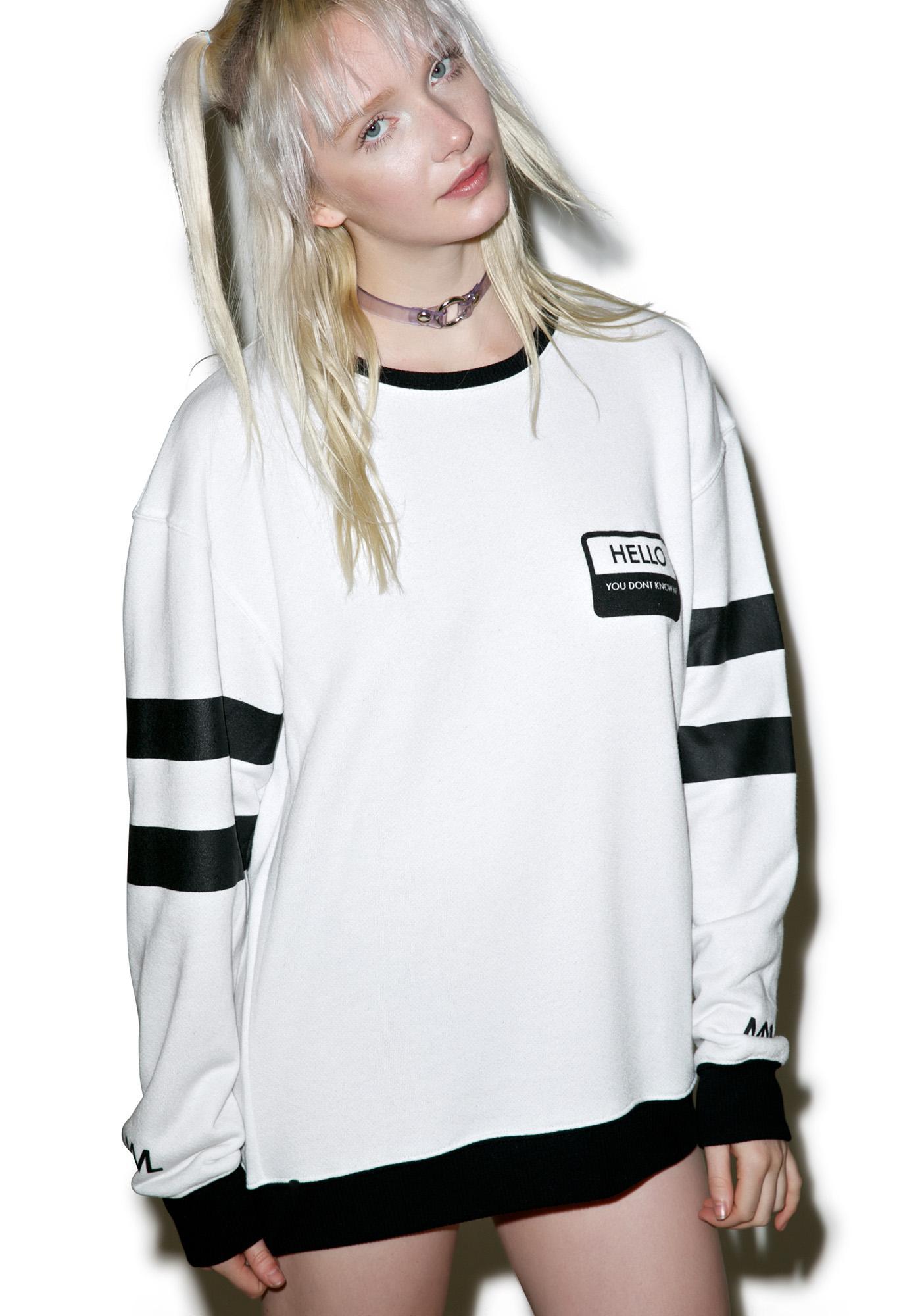 MeYouVersusLife Hello Crewneck Sweatshirt