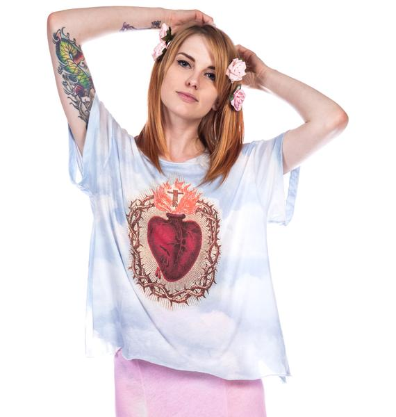 Wildfox Couture Burning Heart Jagged Edge Tee
