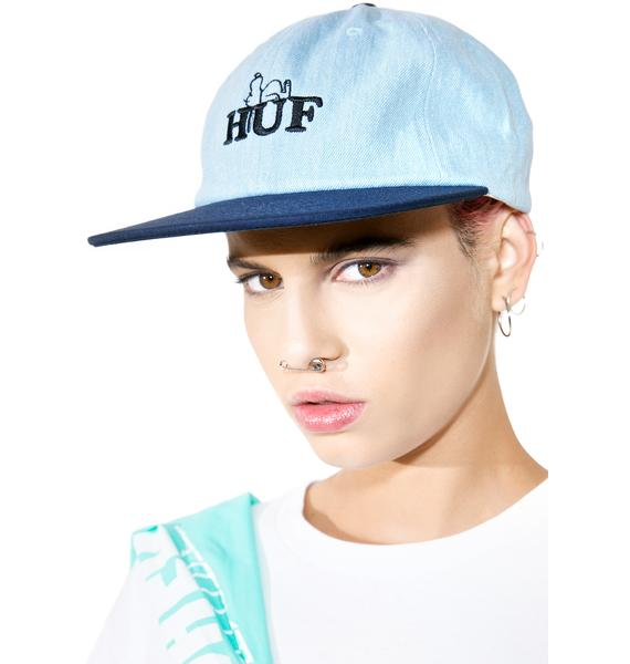 HUF X Peanuts Snoopy 6 Panel Hat