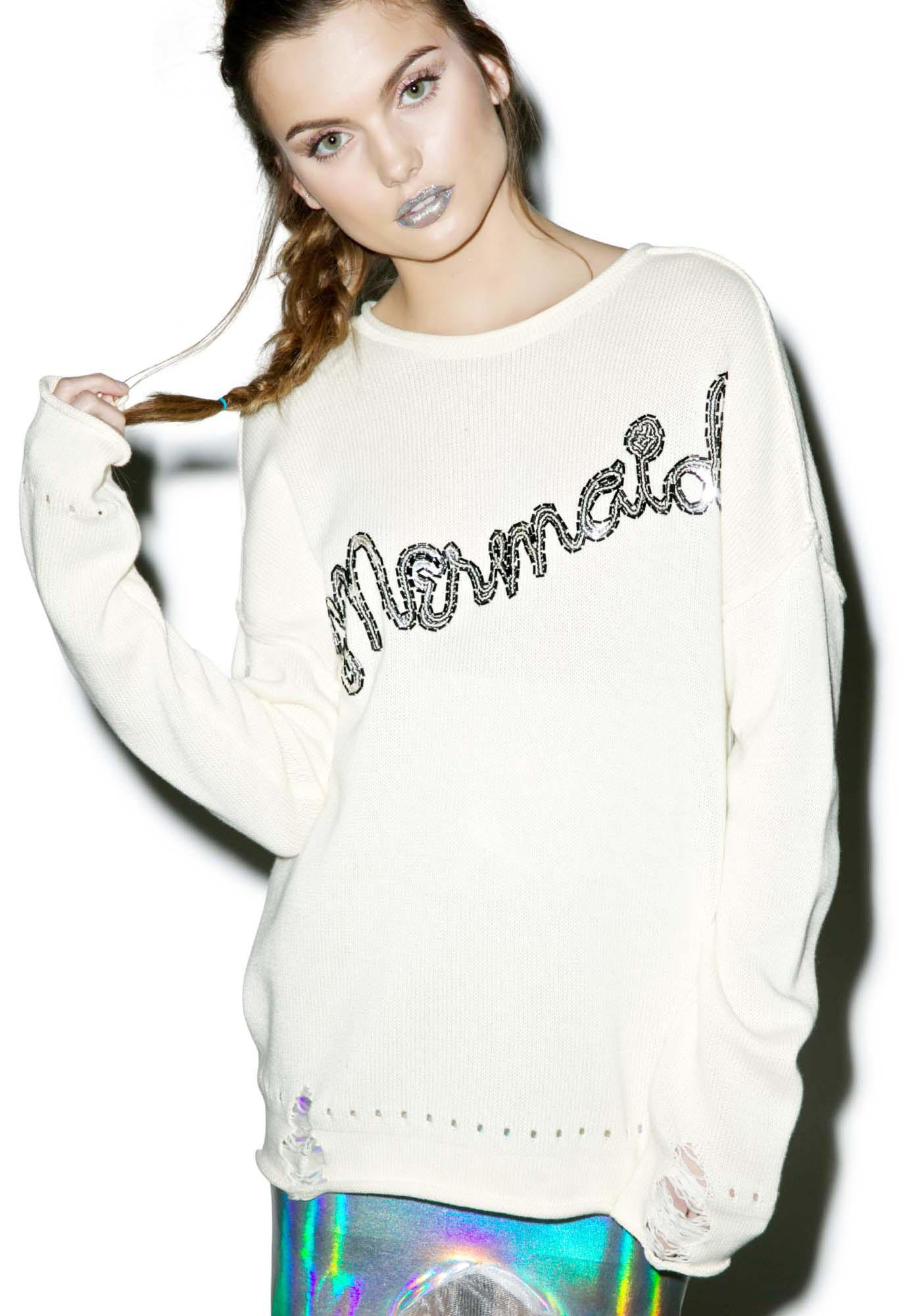 Wildfox Couture Mermaid Bloomy Sweater