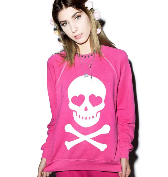 Wildfox Couture Love Bones Kim's Sweater