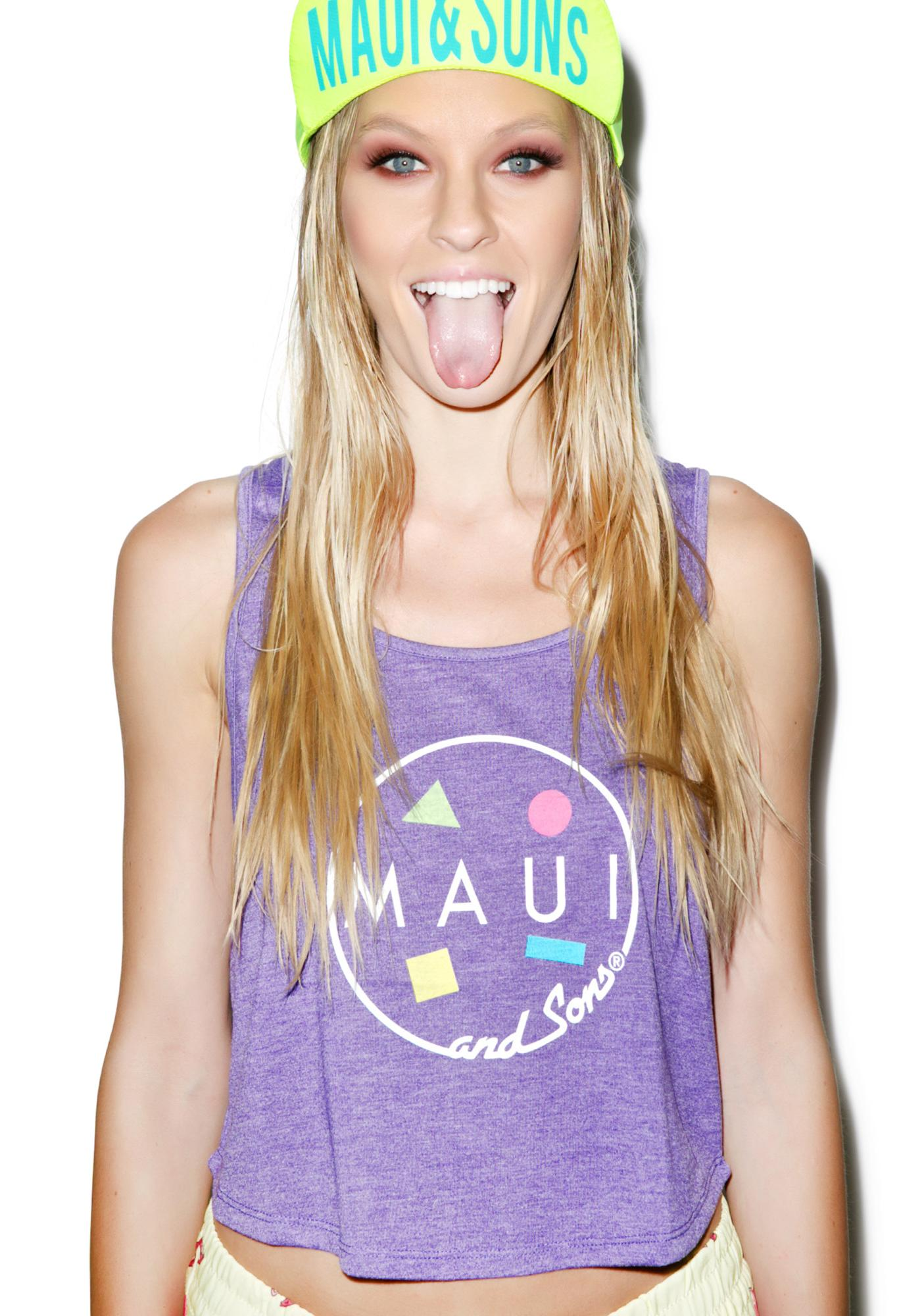 Maui and Sons Summer Lovin' Cropped Tank