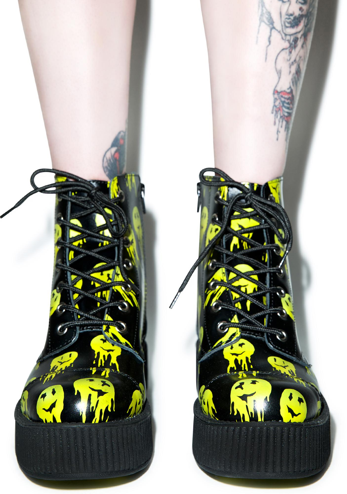 T.U.K. Smiley Viva 7 Eye Leather Boots