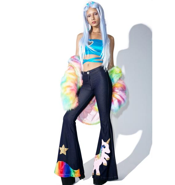 J Valentine Unicorn Queen Bell Bottoms