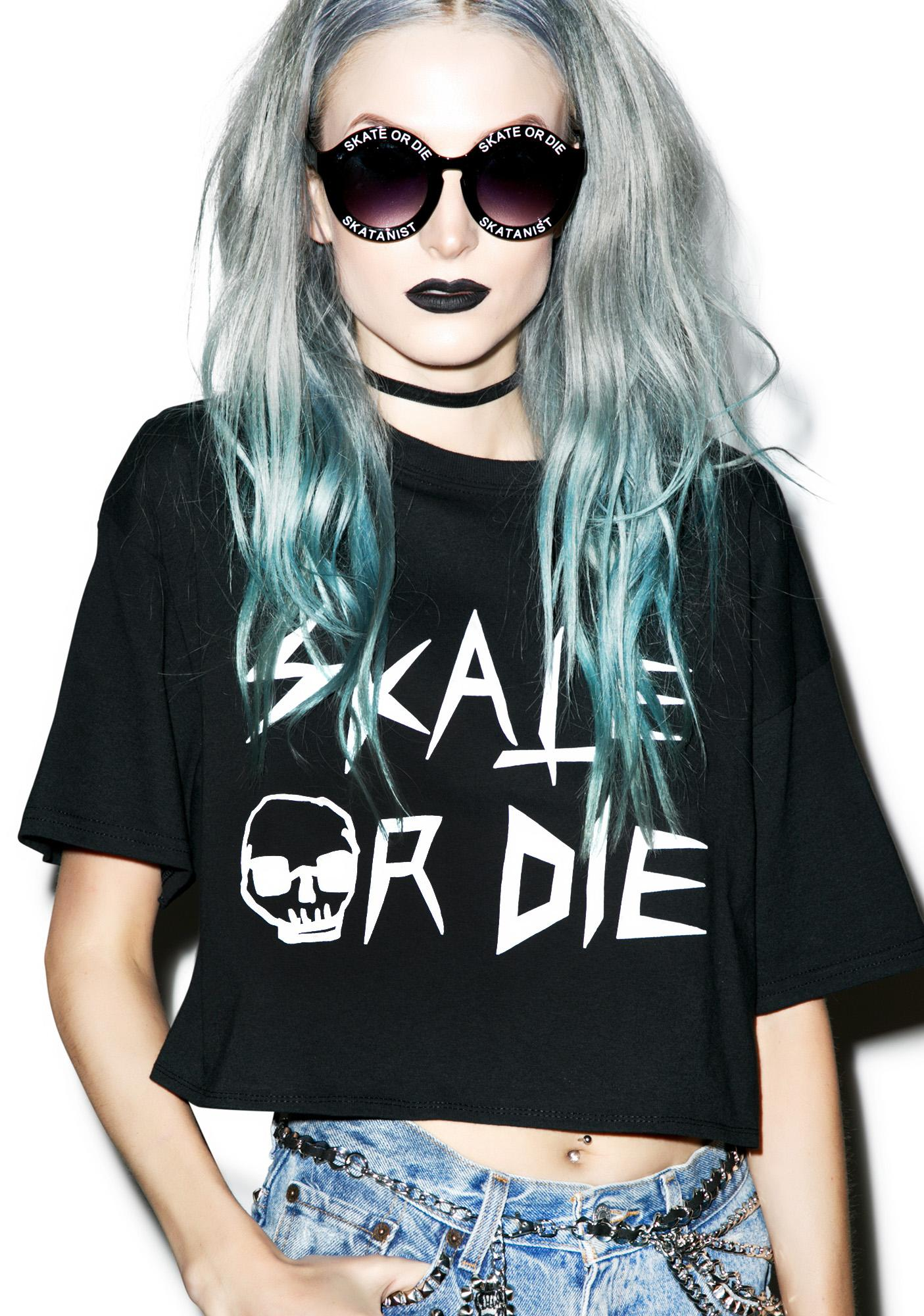 Skate Or Die Crop Top