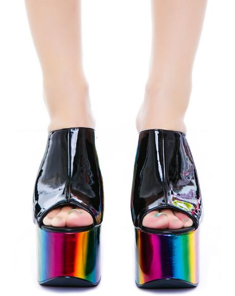 Dream Rainbow Platform Shoe