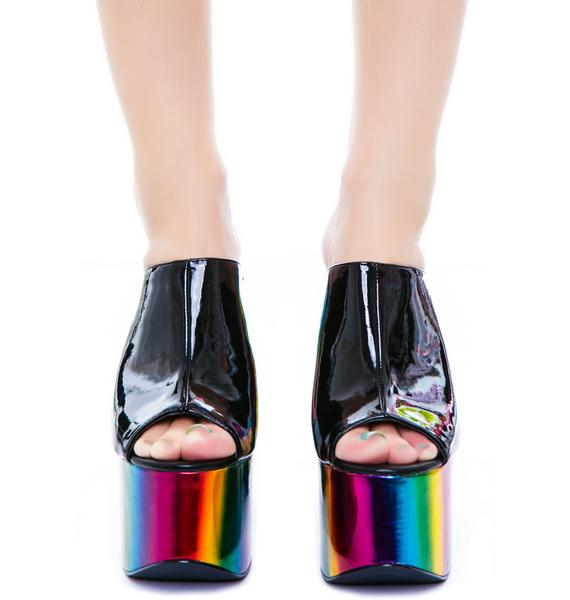 Y.R.U. Dream Rainbow Platform Shoe