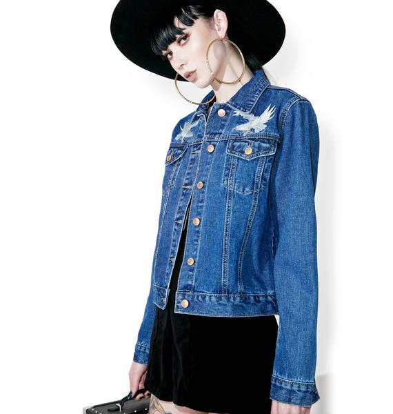 Glamorous Eagle Eyes Denim Jacket