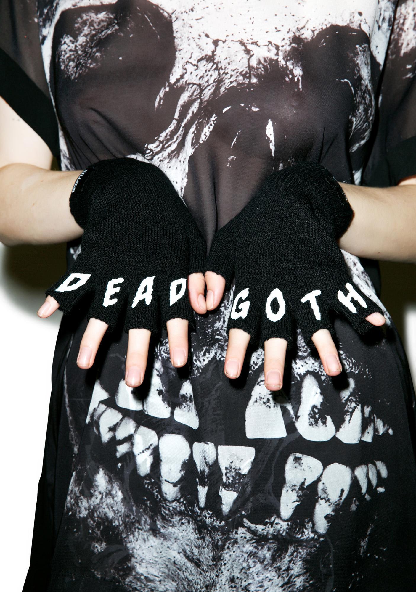 Killstar Dead Goth Fingerless Gloves