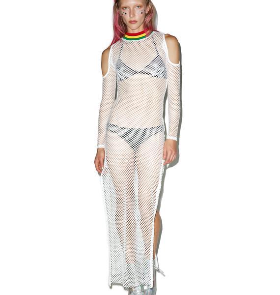 Jaded London Babylon Cold Shoulder Maxi Dress