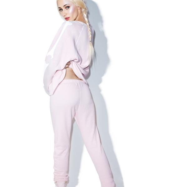 Wildfox Couture Pink Inside Out Bottoms Knox Pants