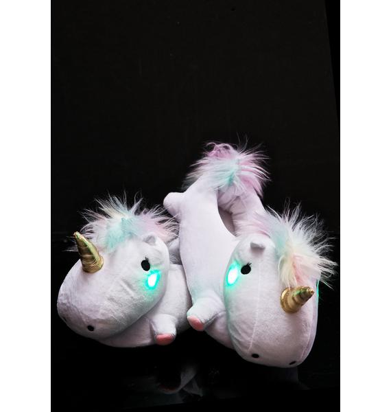 Smoko Unicorn Light-Up Slippers