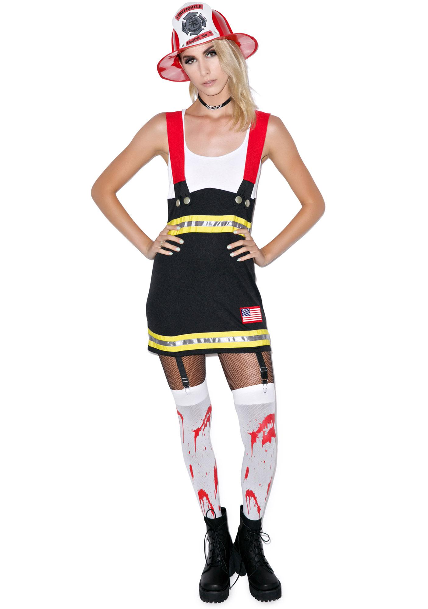 Backdoor Babe Fire Fighter Costume