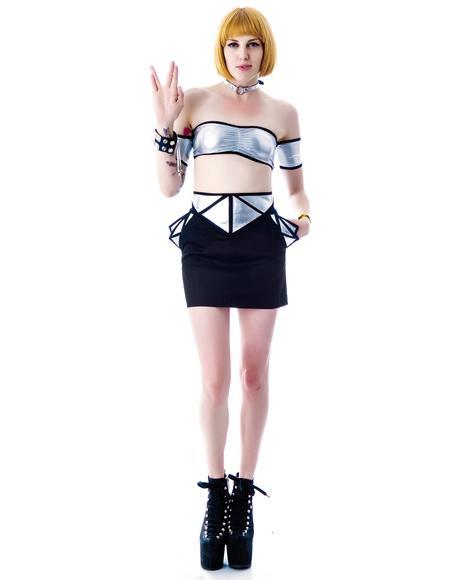 Smoke and Broken Mirror Skirt