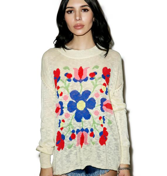 Wildfox Couture Heirloom Hanky Su Sweater