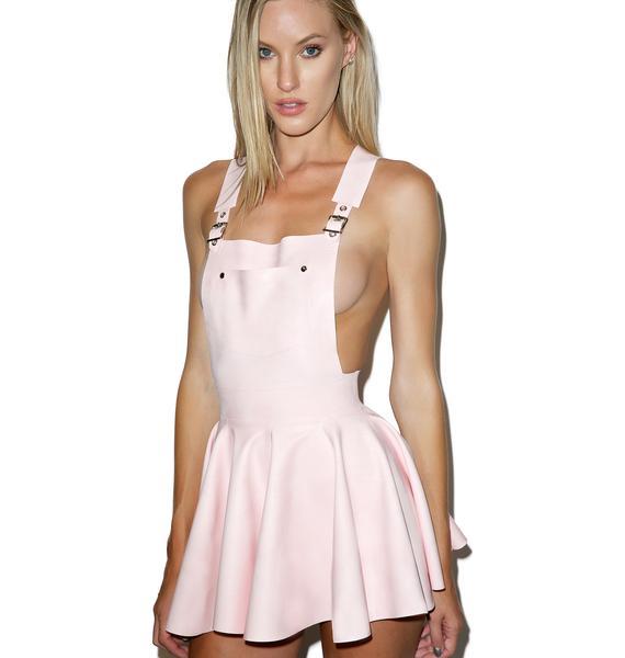 Jane Doe Latex Overall Mini Dress