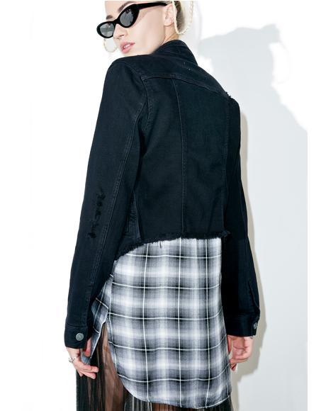 Savannah Cropped Denim Jacket