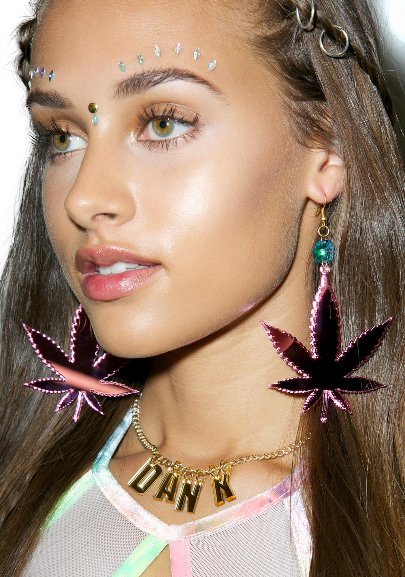 Trixy Starr Irie Weed Earrings