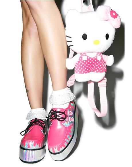 Pretty Pink Paint Bucket Hello Kitty Creepers