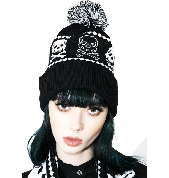 Sourpuss Clothing Skelly Knit Hat