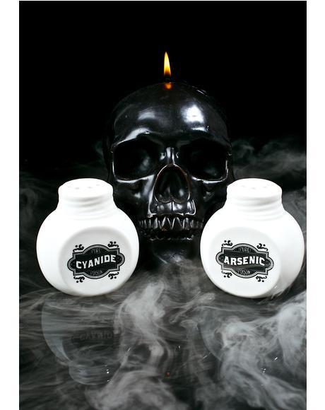 Cyanide & Arsenic Salt & Pepper Shakers