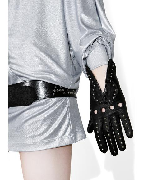 Studded Key Hole Gloves