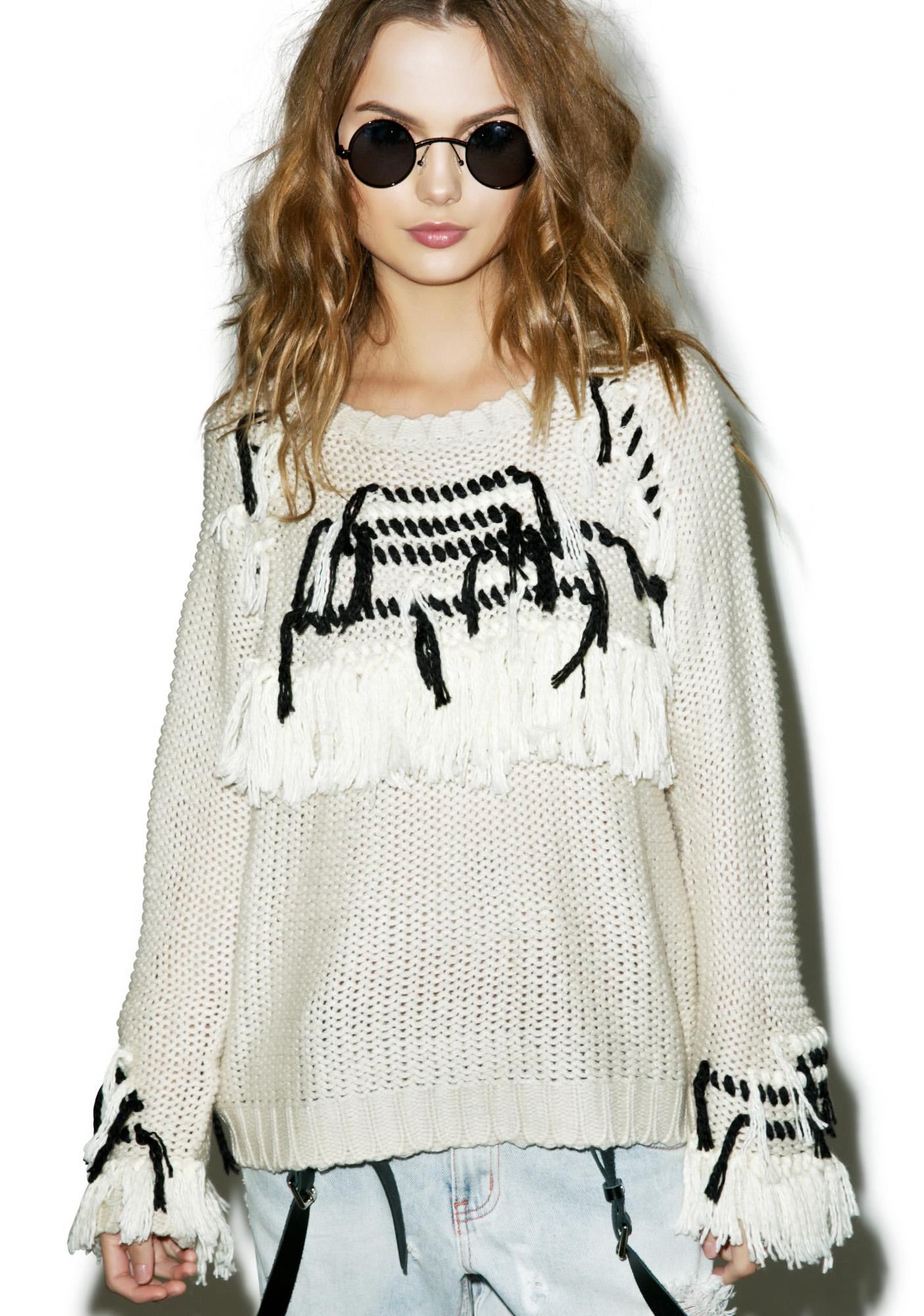 For Love & Lemons Denver Knit Pullover