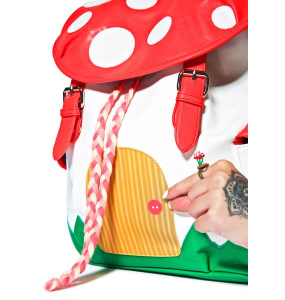 Magic Shroom House Backpack